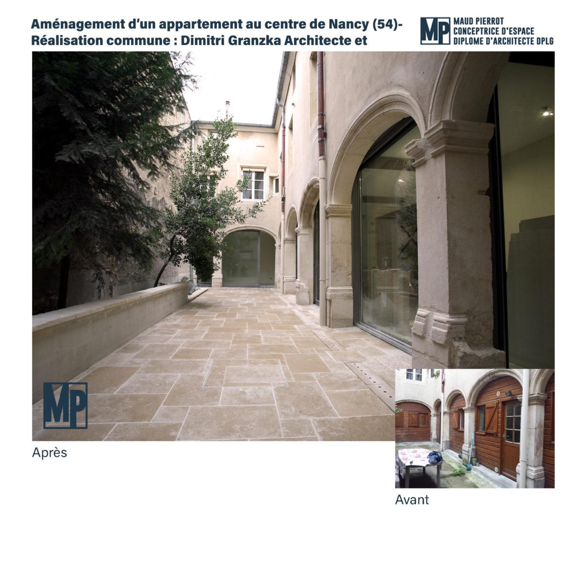 Architecture d'intérieur réhabilitation cloitre nancy