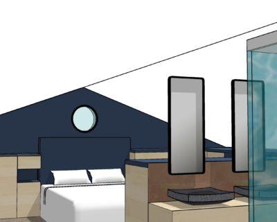 Visite virtuelle en 3D d'un projet de suite parentale
