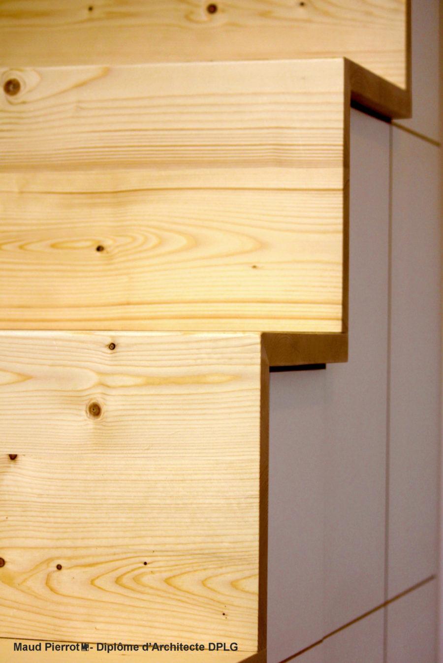 meuble sous escalier sur mesure et mezzanine chambre d'enfant Maud Pierrot Architecte intérieur