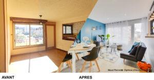 Avant apres decoration appartement meuble colocation investissement locatif