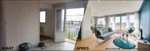 Aménagement et décoration d'un appartement pour de la colocation meublé cuisine