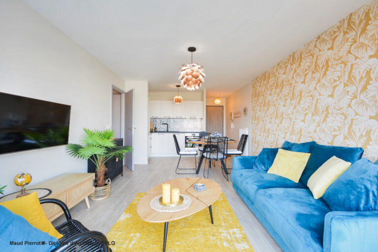 Aménagement et décoration d'un appartement salon 4