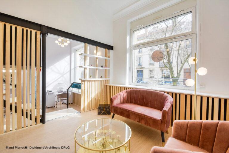 Aménagement et décoration - salon esthétique Nancy espace attente